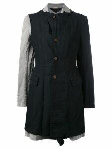 Comme Des Garçons Comme Des Garçons ruffle trim coat - Black
