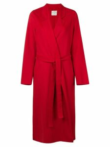 Forte Forte belted single breasted coat - Red