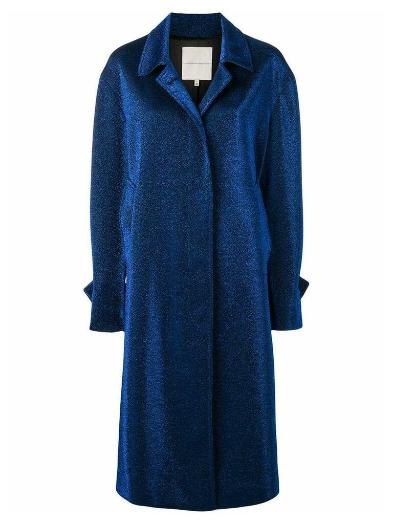 Marco De Vincenzo metallic coat - Blue