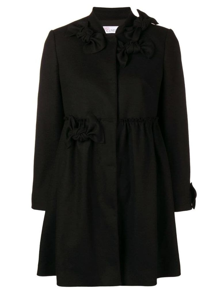 Red Valentino bow details coat - Black