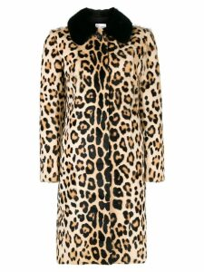 Red Valentino leopard print coat - Brown