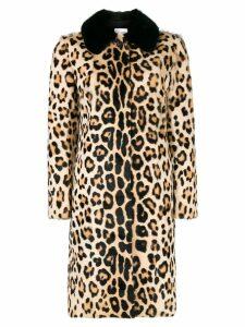 Red Valentino leopard print coat - Brown