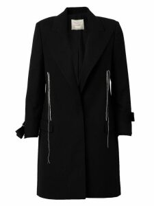 Lanvin exposed seam detail coat - Black
