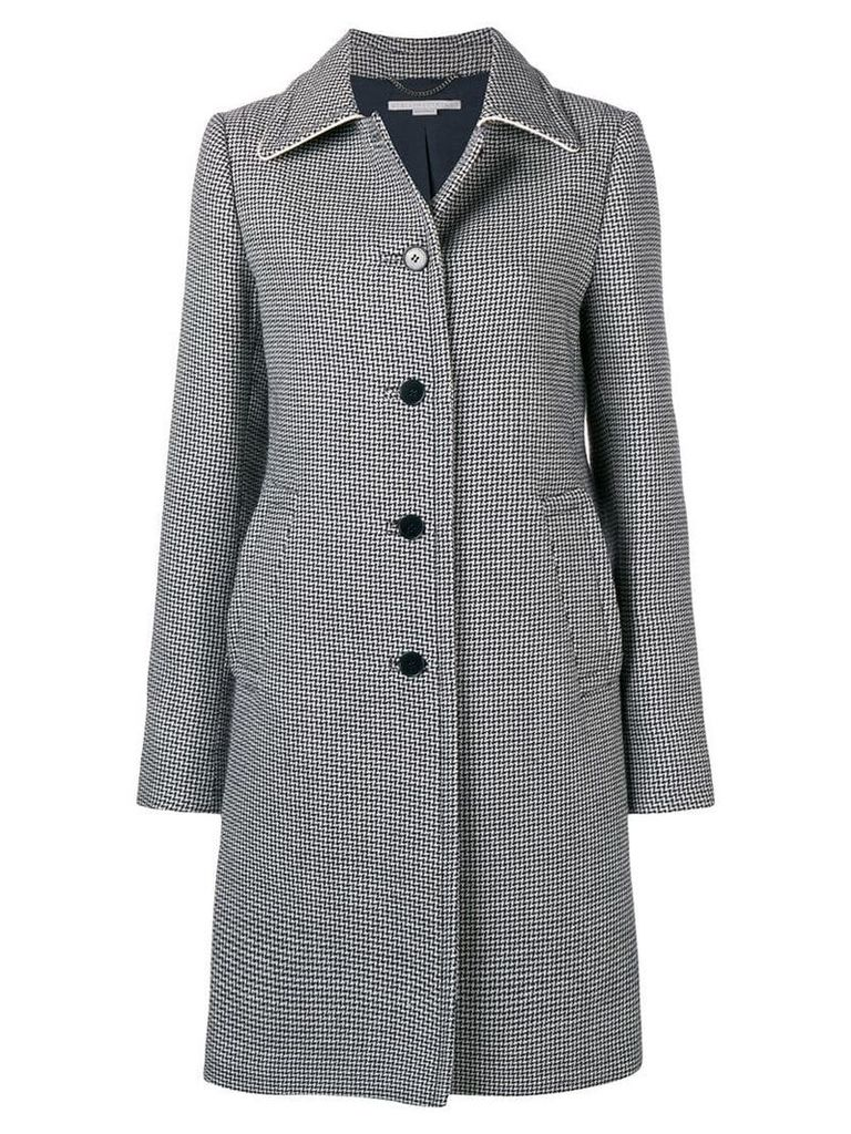 Stella McCartney houndstooth button coat - Blue
