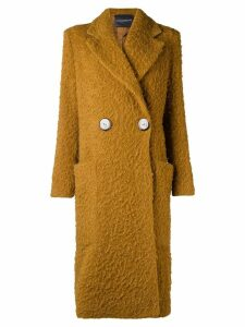 Erika Cavallini chunky single-breasted coat - Brown