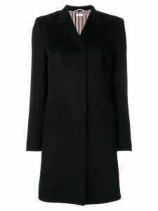 Thom Browne Bow Back Cashmere Chesterfield Overcoat - Black