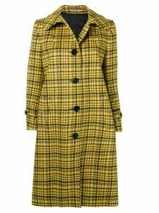 Bottega Veneta plaid coat - Yellow
