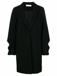 Victoria Victoria Beckham ruffled coat - Black