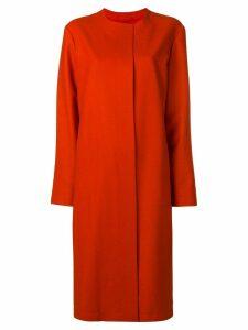 Liska single-breasted fitted coat - Orange