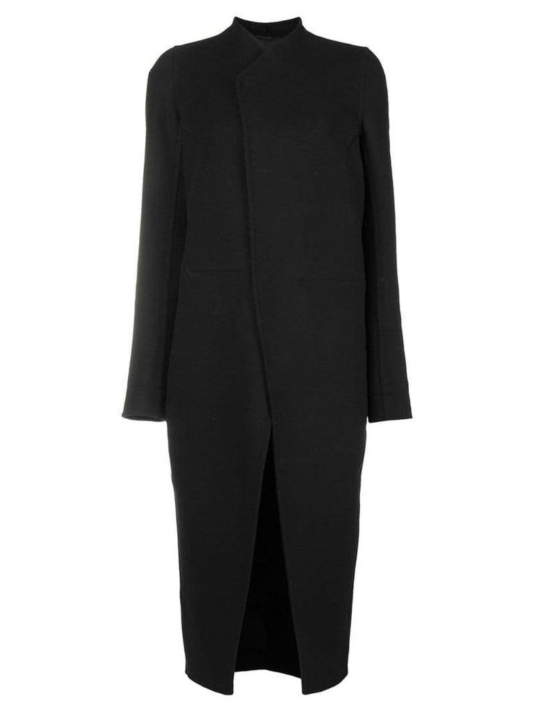 Rick Owens concealed front coat - Black