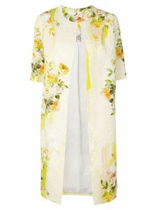Antonio Marras shortsleeved floral coat - Yellow