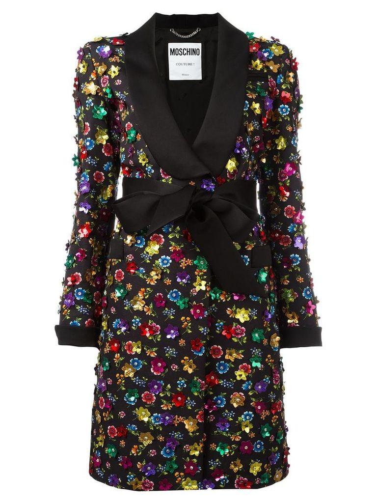 Moschino flower power coat - Black