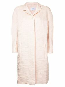 Carven textured midi coat - Pink