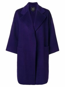 Theory loose-fit coat - Purple