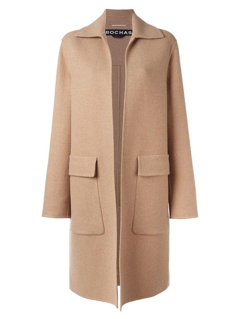 Rochas flap pocket coat - Neutrals