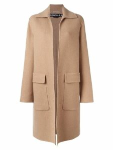 Rochas flap pocket coat - Neutrals