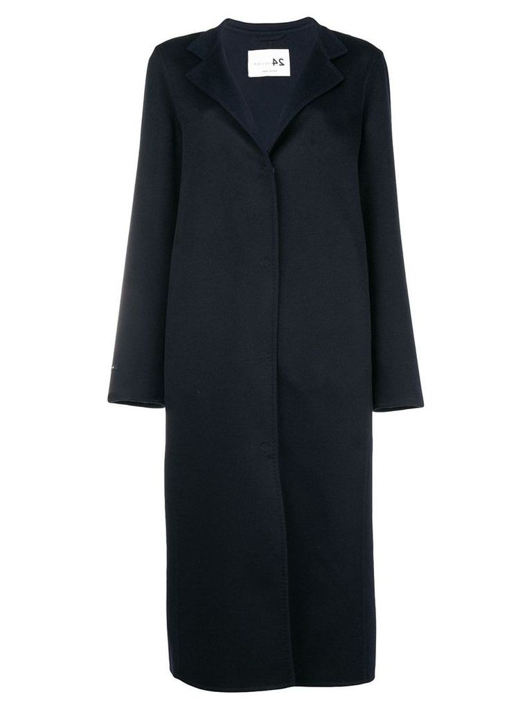 Manzoni 24 single breasted coat - Blue