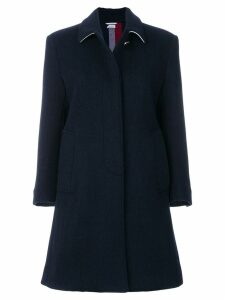 Thom Browne Unlined Stripe Wool Overcoat - Blue
