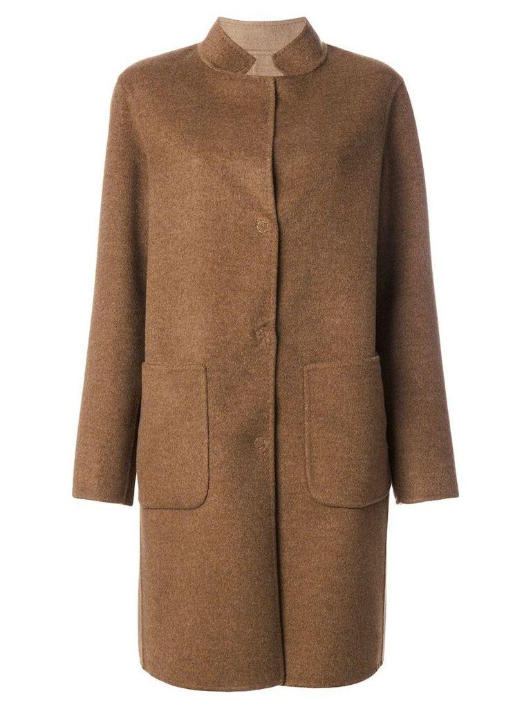 Manzoni 24 single breasted coat - Brown