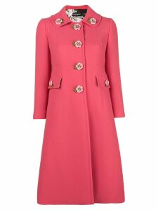 Dolce & Gabbana floral appliqué tailored coat - PINK