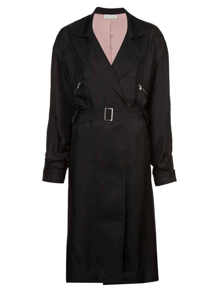 Fleur Du Mal belted coat - Black
