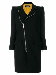 Dsquared2 asymmetric zip front coat - Black
