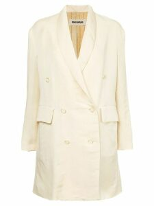 Uma Wang tailored fitted coat - NEUTRALS