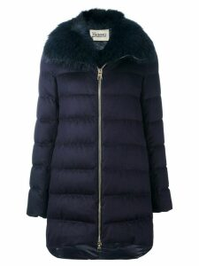 Herno fur collar padded coat - Blue