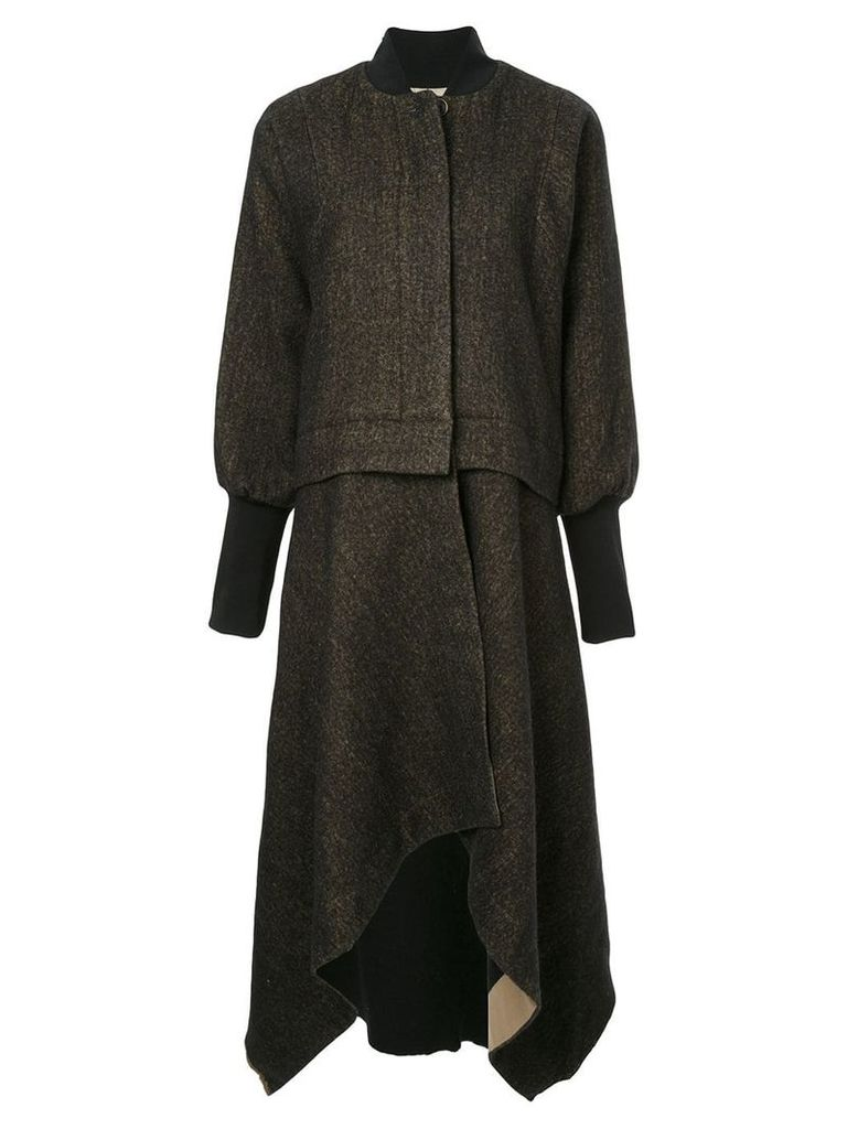 Uma Wang handkerchief hem coat - Brown