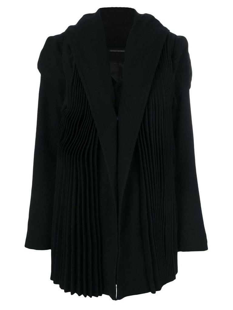 Yohji Yamamoto tailored pleated coat - Black