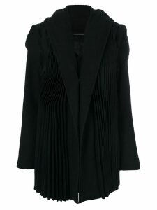 Yohji Yamamoto tailored pleated coat - Black