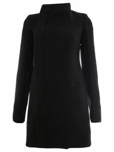 Rick Owens stand-up collar coat - Black