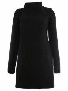 Rick Owens stand-up collar coat - Black
