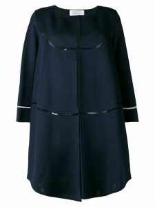 Gianluca Capannolo cropped sleeve coat - Blue