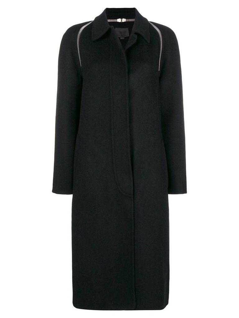 Alexander Wang zip detail single-breasted coat - Black