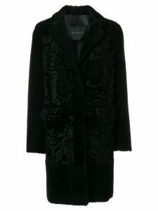 Blancha single breasted coat - Black
