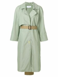 Walk Of Shame contrast tail trench coat - Green