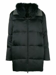 Fabiana Filippi padded zipped coat - Black