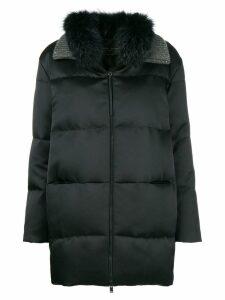 Fabiana Filippi padded zipped coat - Black