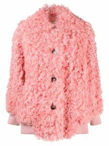 Miu Miu midi shearling coat - Pink