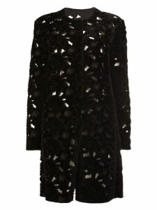 Giambattista Valli single breasted coat - Black