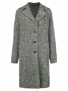 Ermanno Scervino marbled single breasted coat - Black