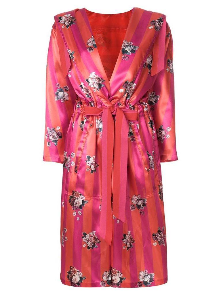 Golden Goose floral belted coat - Pink