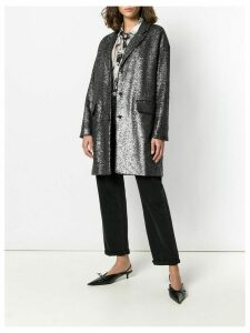 Boutique Moschino sequin embellished coat - Metallic