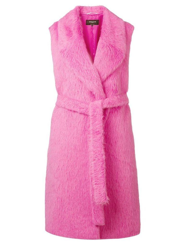 Rochas faux fur sleeveless coat - Pink