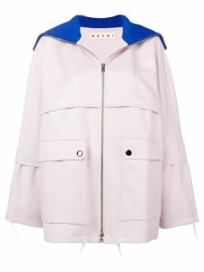 Marni relaxed fit coat - PINK