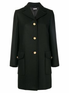 Miu Miu single breasted wool coat - Black