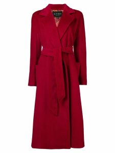Etro Opal belted coat - Red