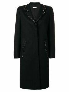 Versace Collection studded single breasted coat - Black