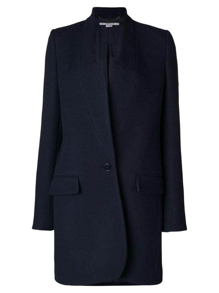 Stella McCartney collarless wrap coat - Blue